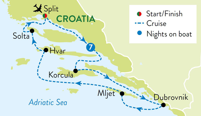 Croatian-Island-Hopping-Itinerary-Map
