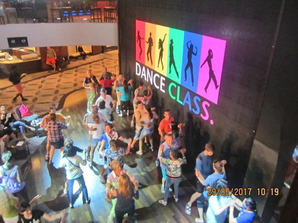 Norwegian Epic Atrium Dance Class