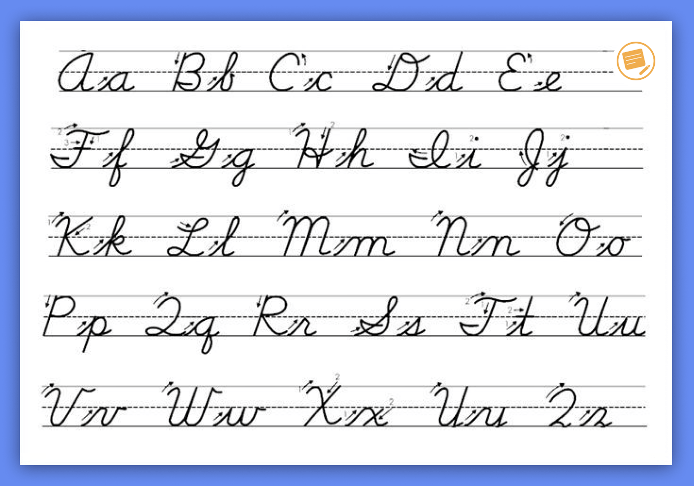 How To Make Cursive Letters