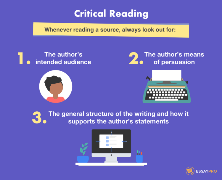 Things to which you should pay attention when reading sources