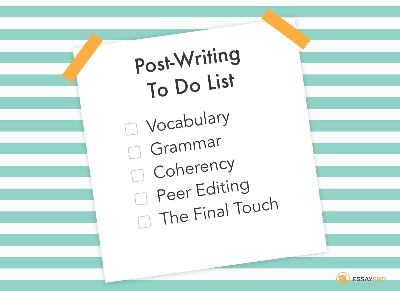 post writing list