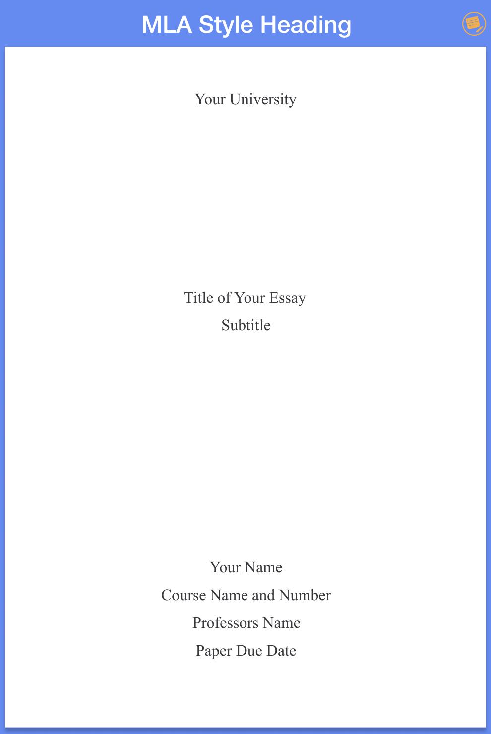 mla-title-page