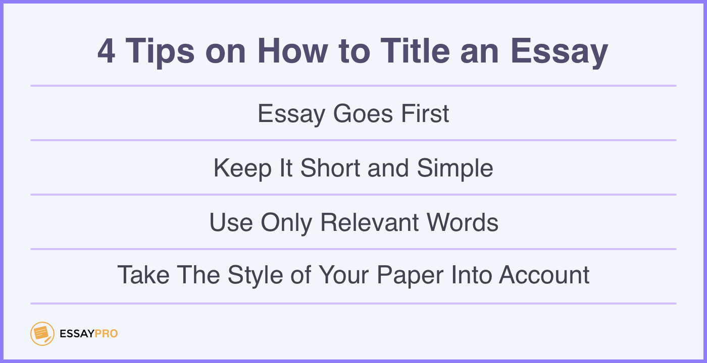 4 tips on how to title an essay