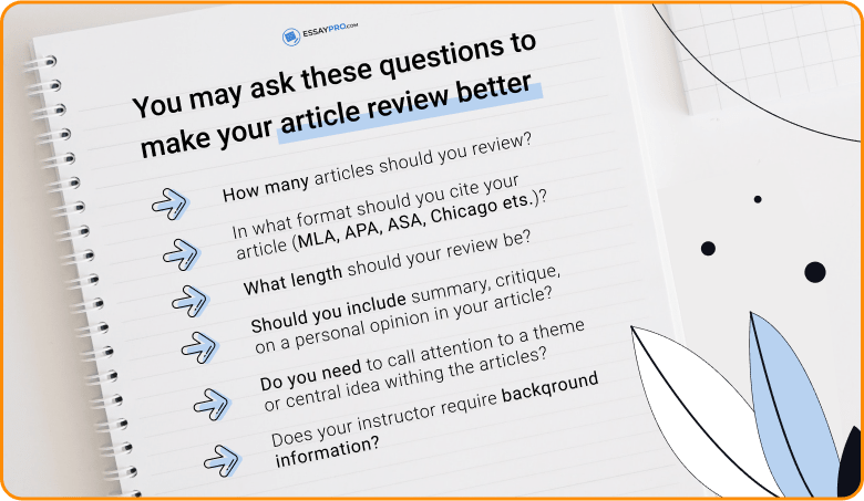 Questions about an article review