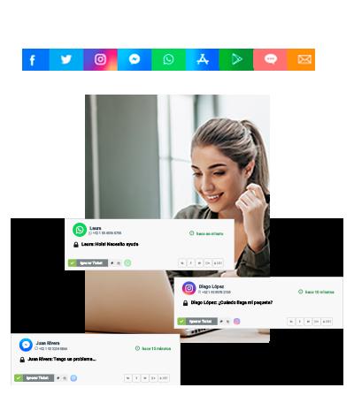 Plataforma omnicanal para todos los canales de mensajería