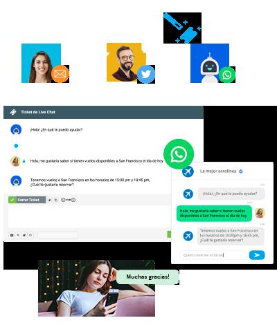 Flujos de trabajo automatizados para mensajería