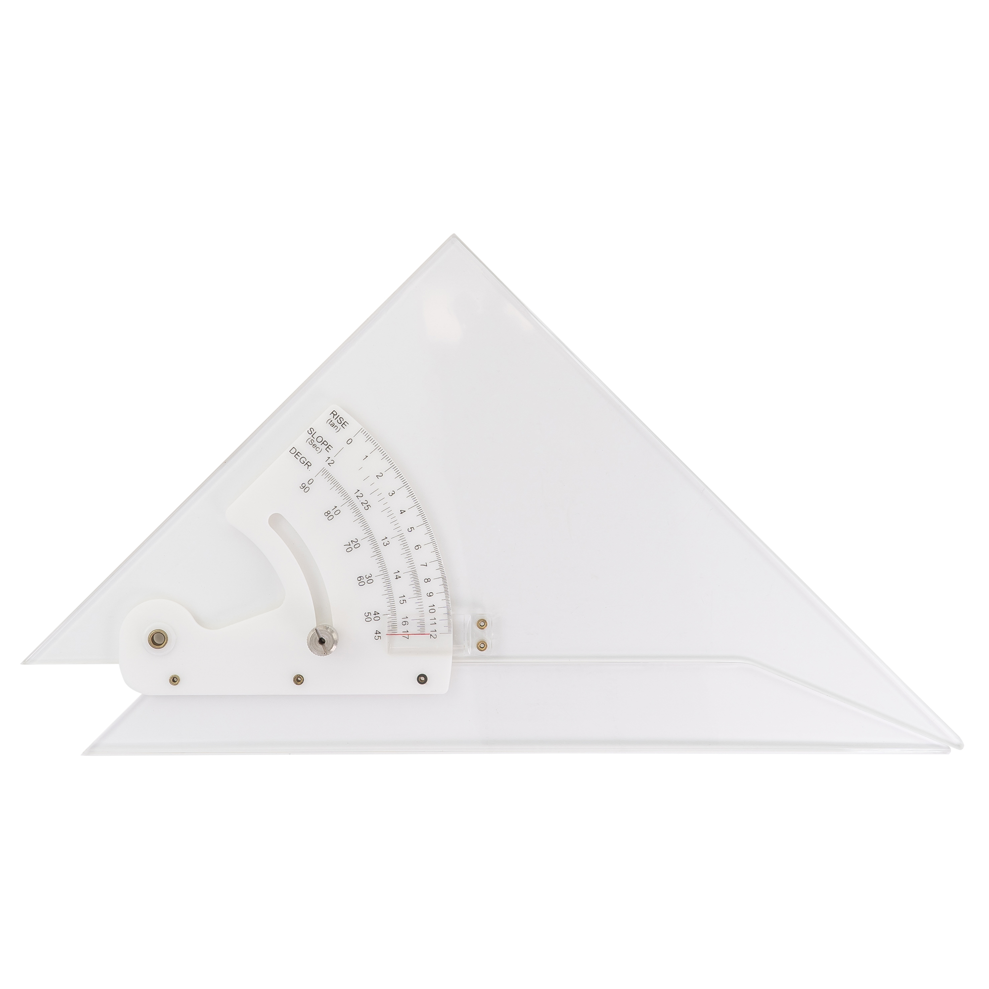 Adjustable hard professional acrylic drafting triangle by pacific arc