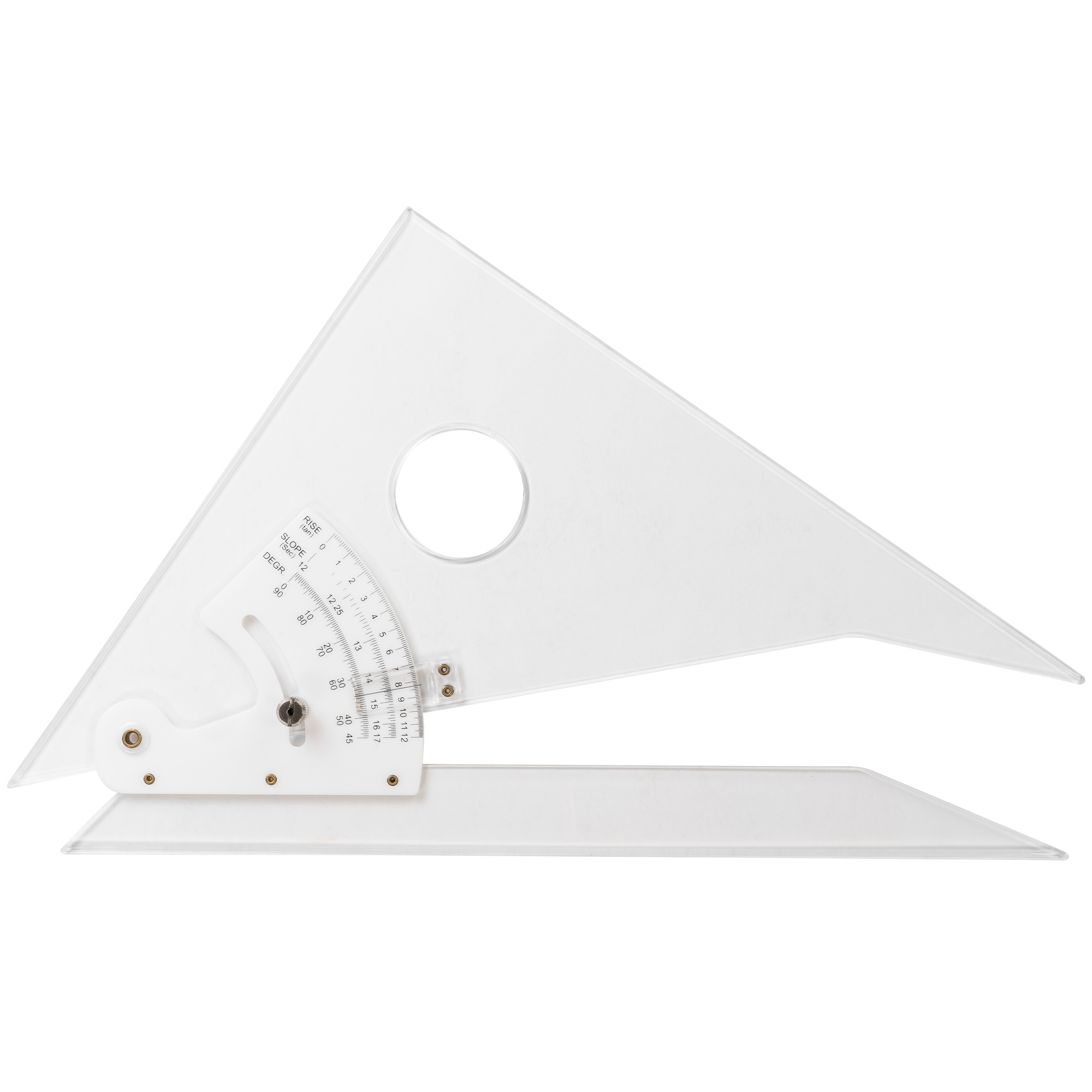 adjustable triangle with circular holepunch design great in various sizes by pacific arc