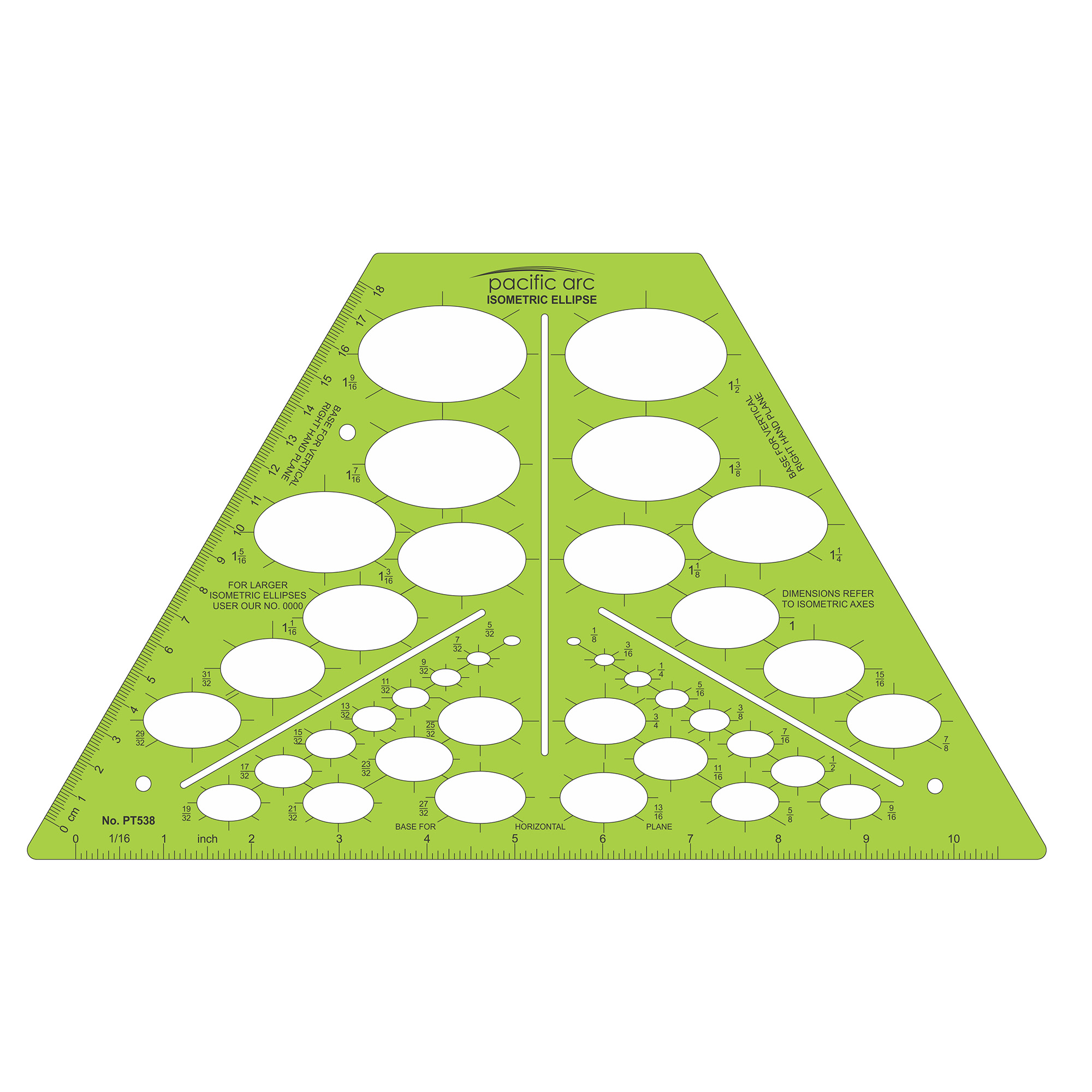 Isometric circles drafting design template by pacific arc