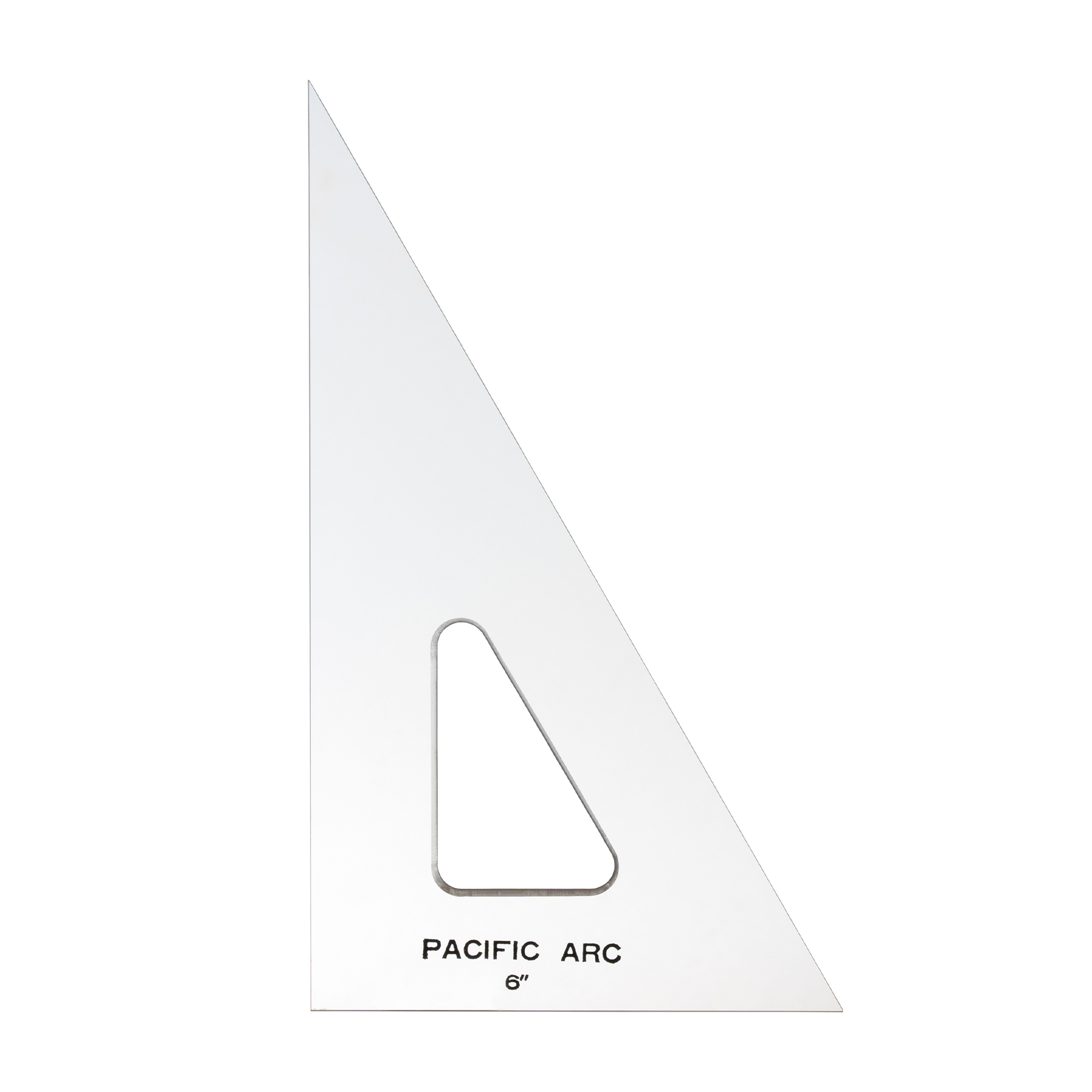 Clear drafting triangles by pacific arc