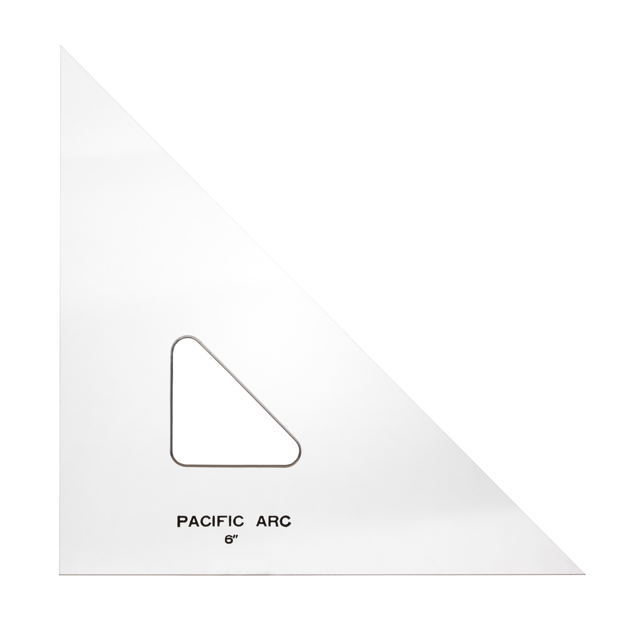 clear acrylic professional drafting triangle by pacific arc