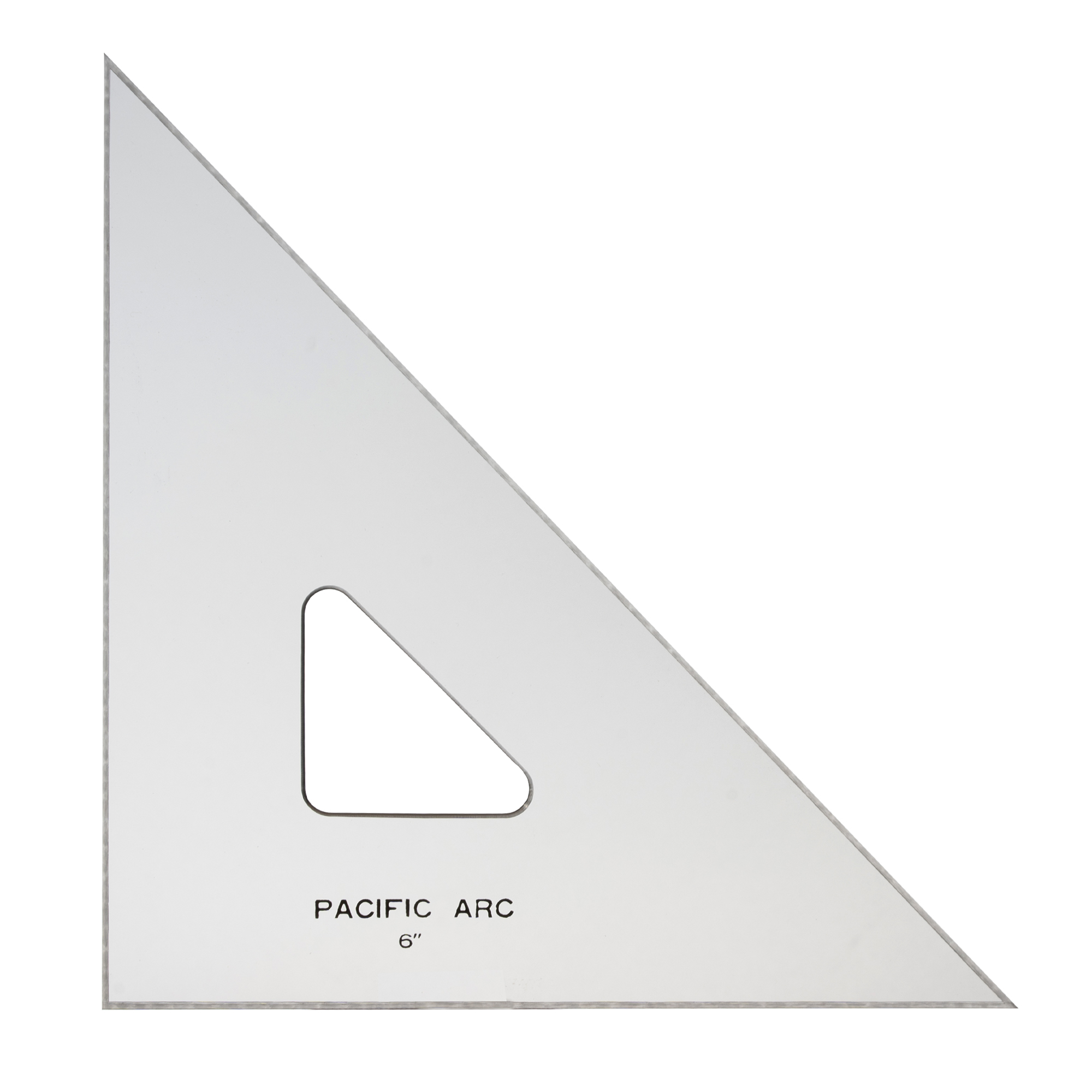"""topaz colored acrylic drafting triangle with various thickness from .08"""" to .12"""" by pacific arc"""