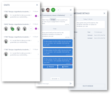 Internal Chat and Notification Systems