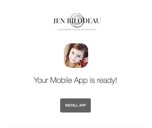 Email notification of ShootProof mobile app