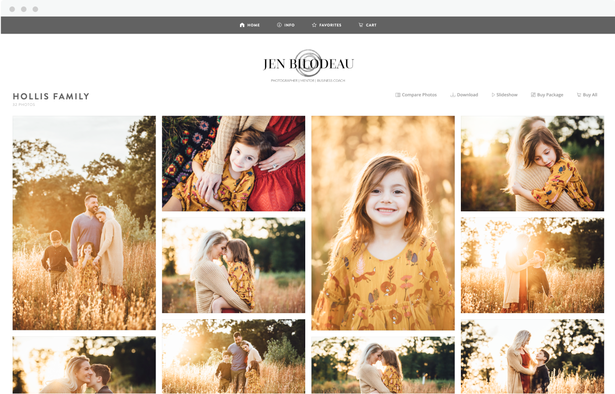 ShootProof family portrait gallery for Jen Bilodeau
