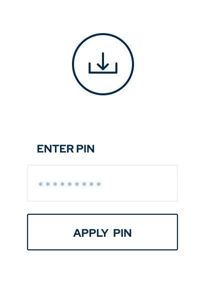 Product illustration of entering secure pin for gallery