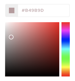 Custom color picker for photo gallery branding