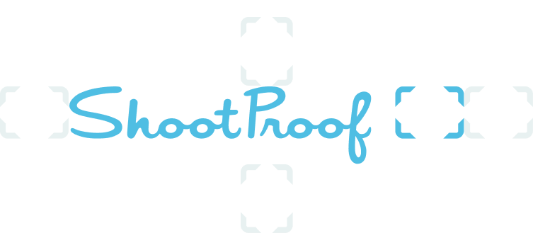 ShootProof logo with spacing around the mark