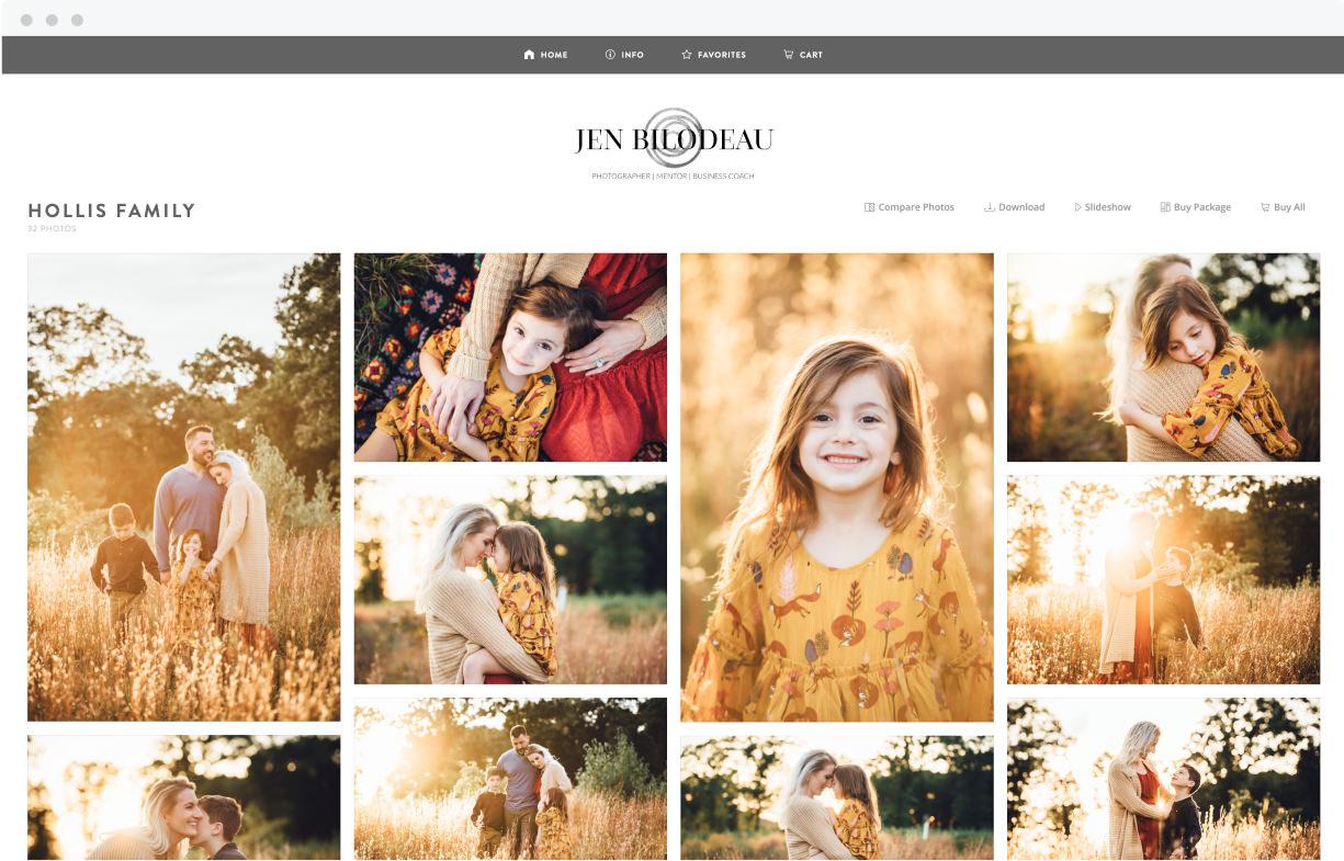 ShootProof family portrait gallery for Jen Bilodeau