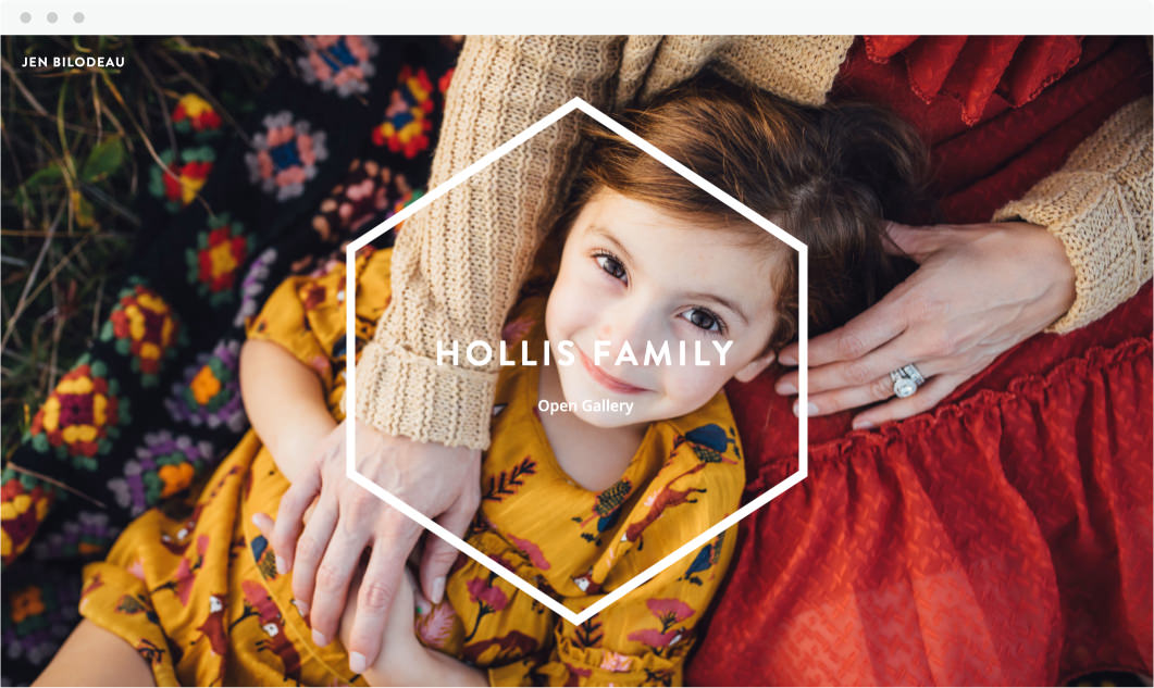 Online ShootProof gallery cover of family by Jen Bilodeau