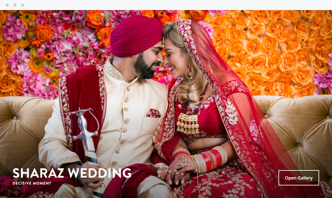 Online ShootProof gallery cover of wedding by Decisive Moment