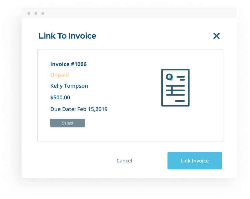 Link contract to invoice popup for ShootProof