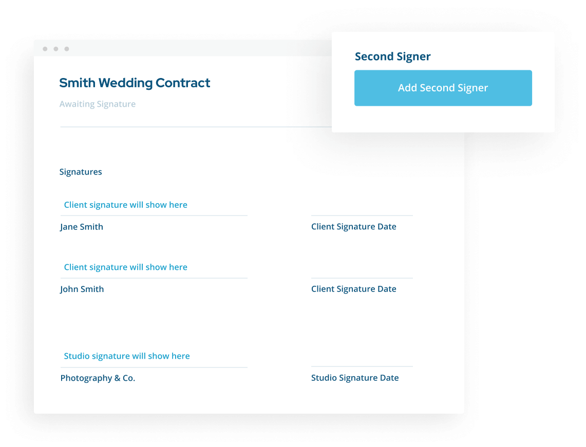 Multiple Signature blanks for in ShootProof's contracts