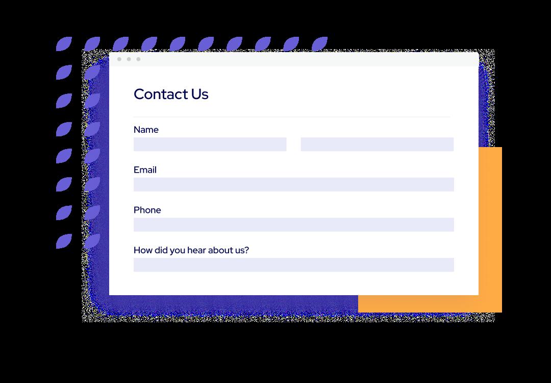 Táve contact forms