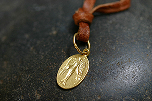 22K Recycled Gold Guardian Charm, muse, talisman, character, trait, pendant