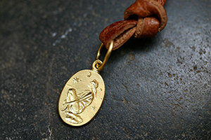 22K Recycled Gold Dreamer Charm, muse, talisman, character, trait, pendant
