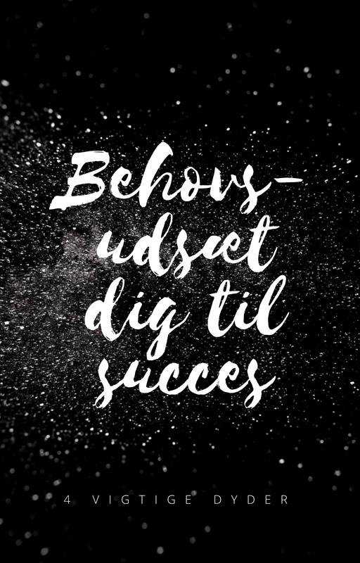 Behovsudsæt dig til succes!