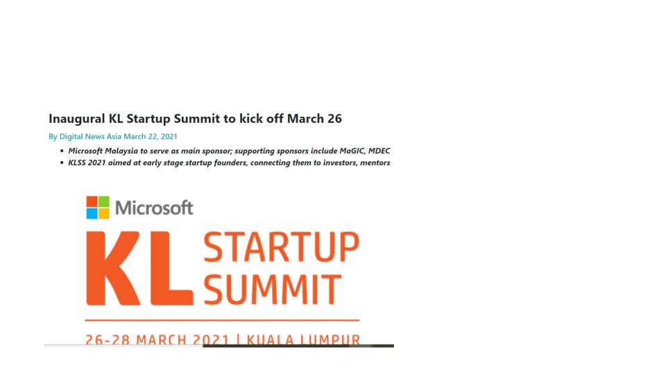 Inaugural KL Startup Summit to kick off March 26