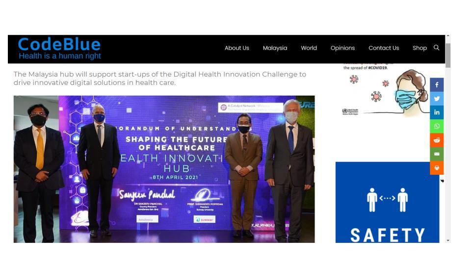 AstraZeneca And Sunway Launch Malaysia's First Health Innovation Hub