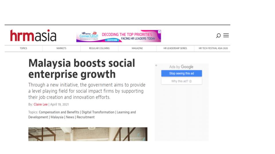 Malaysia boosts social enterprise growth