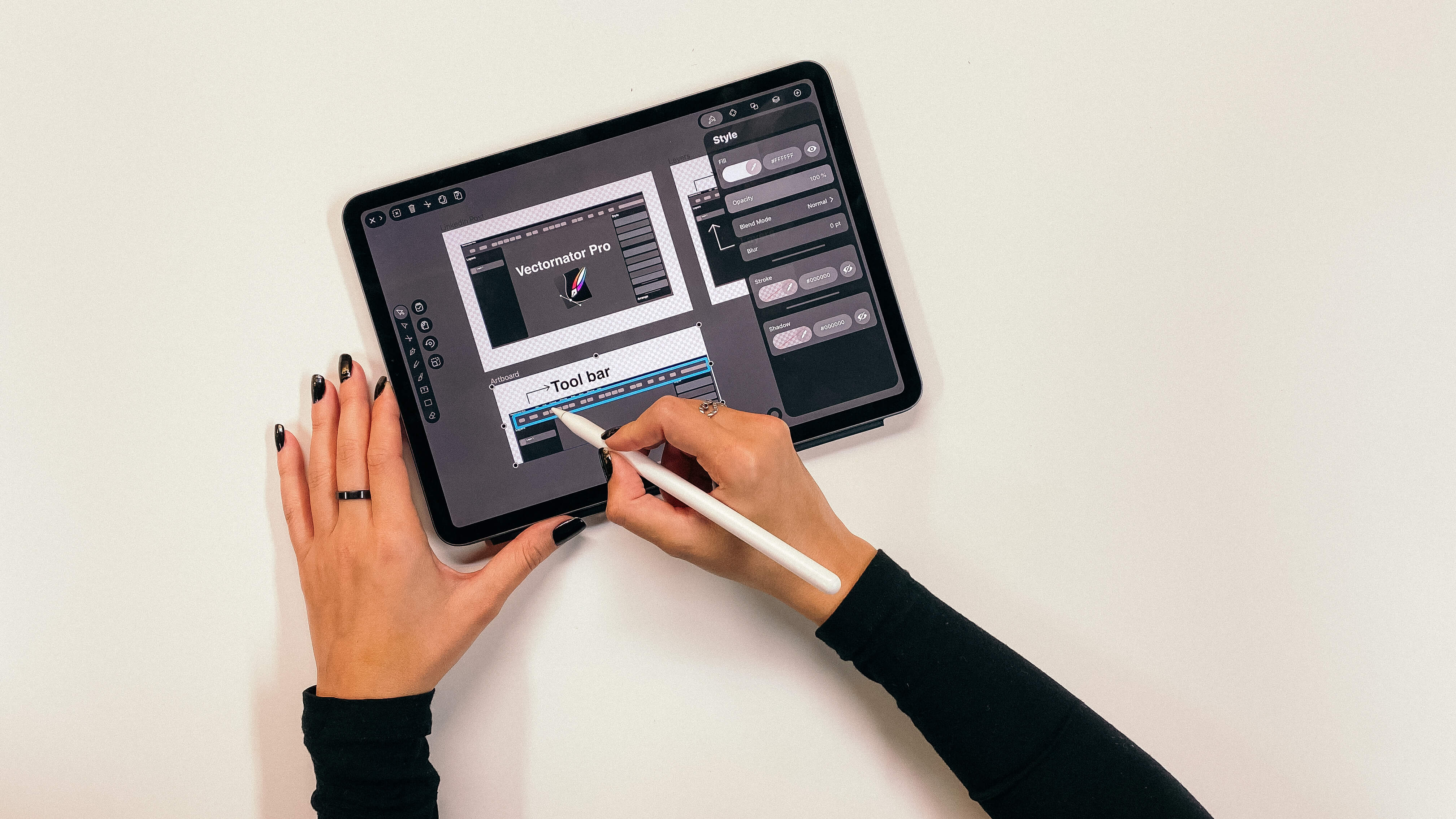 Designing Vectornator Pro on iPad