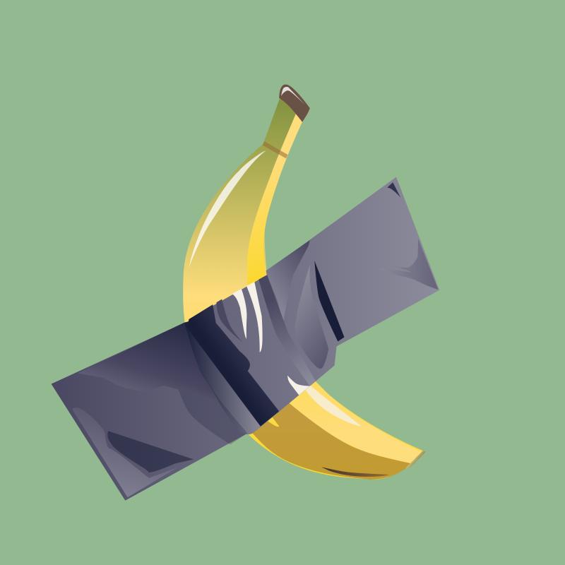banana cattelan as a design-trend in 2020