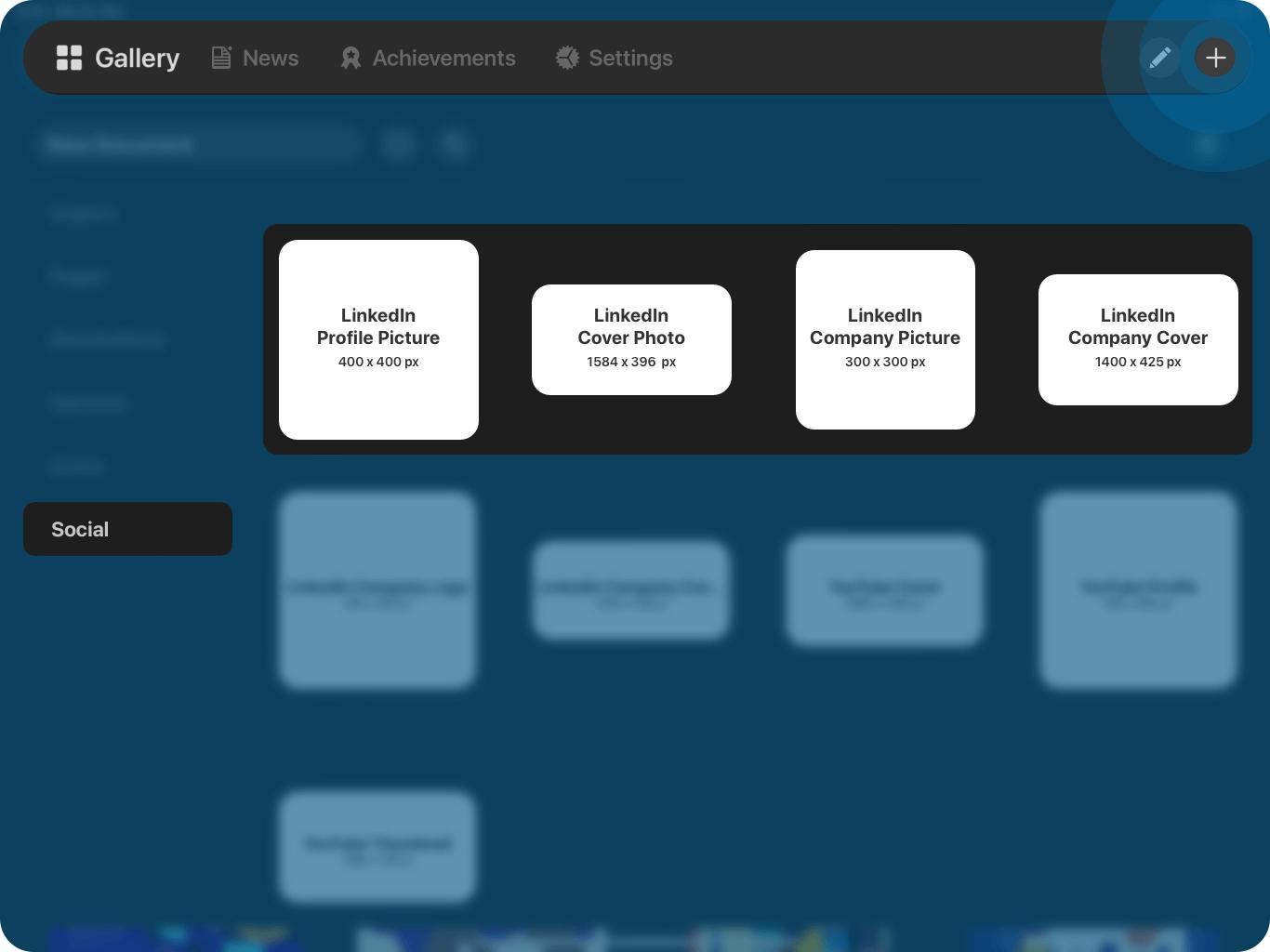 vectornator linkedin templates