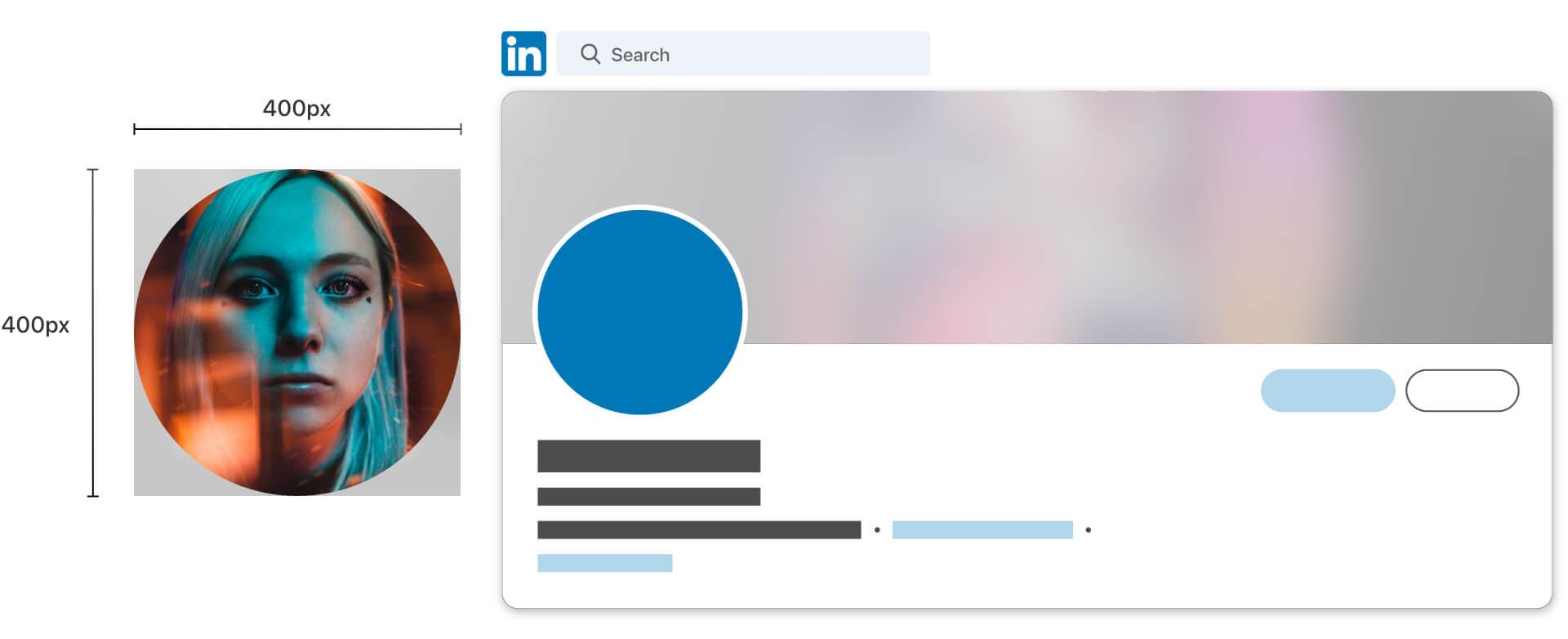linkedin profile image dimensions