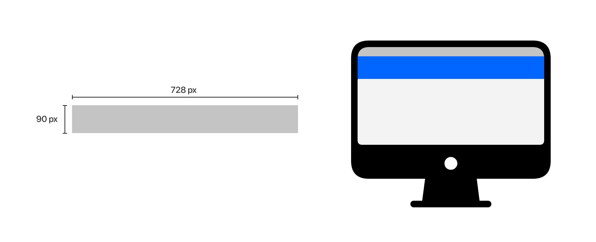 desktop leaderboard banner dimensions