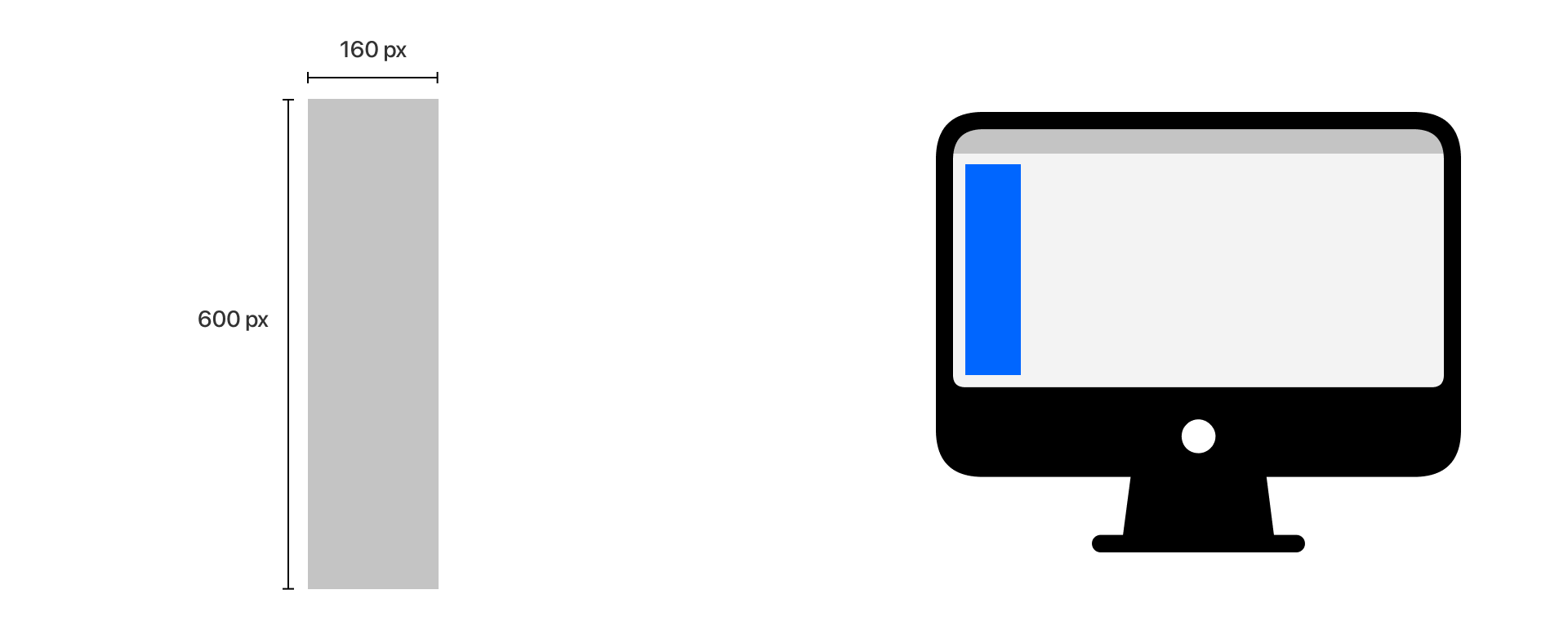 desktop wide skyscraper web banner dimensions