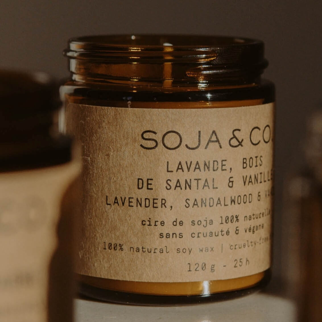 candle label with texture