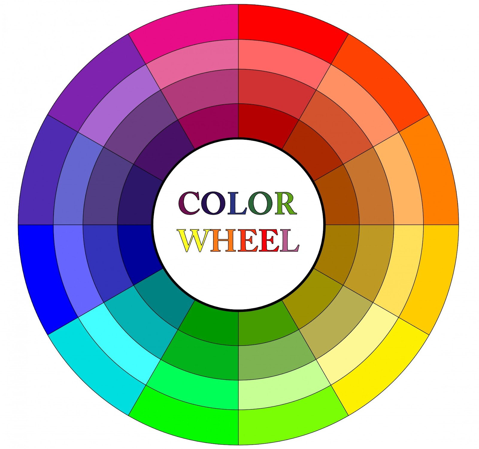 monochromatic color wheel