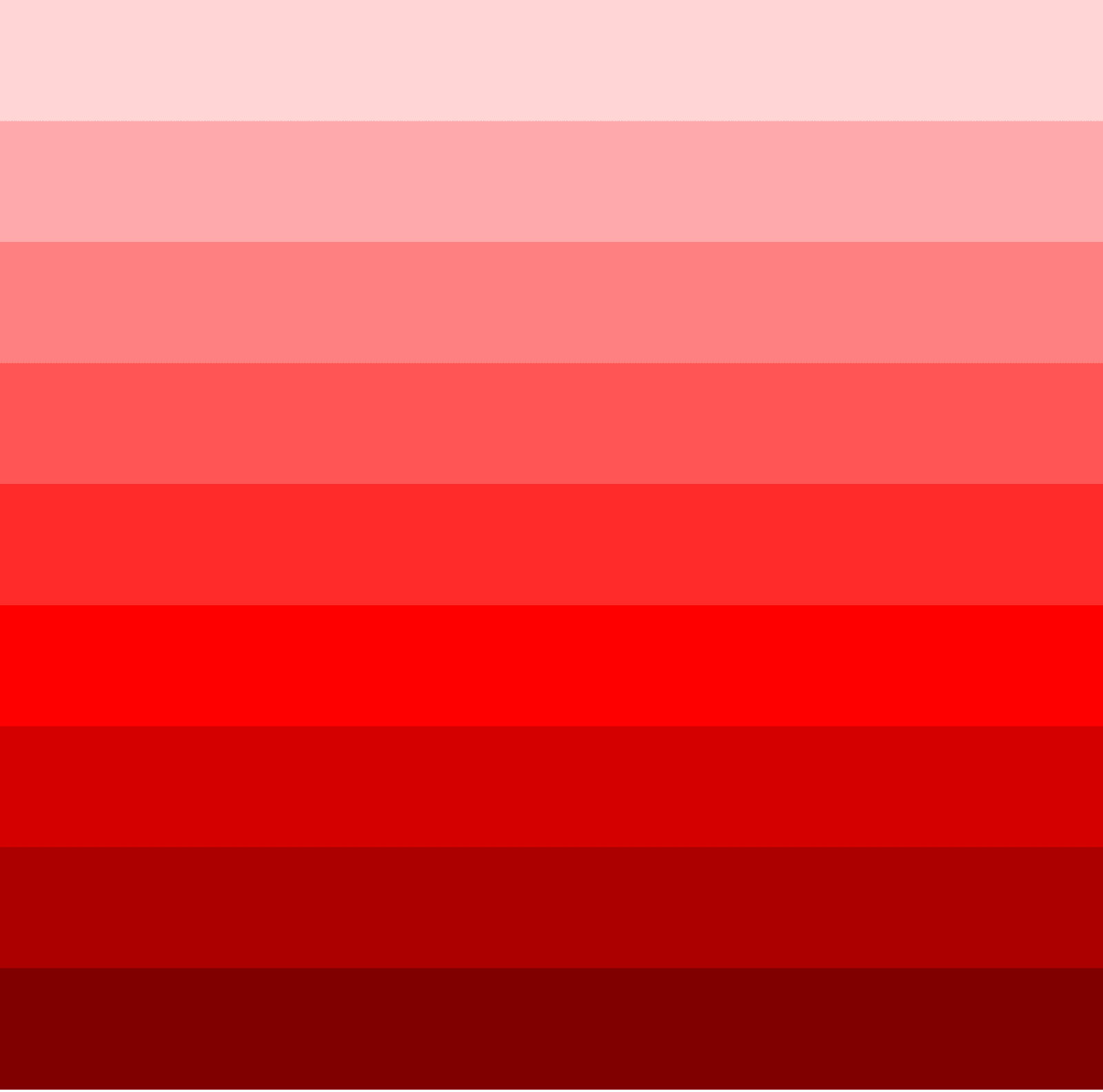 monochromatic colors red