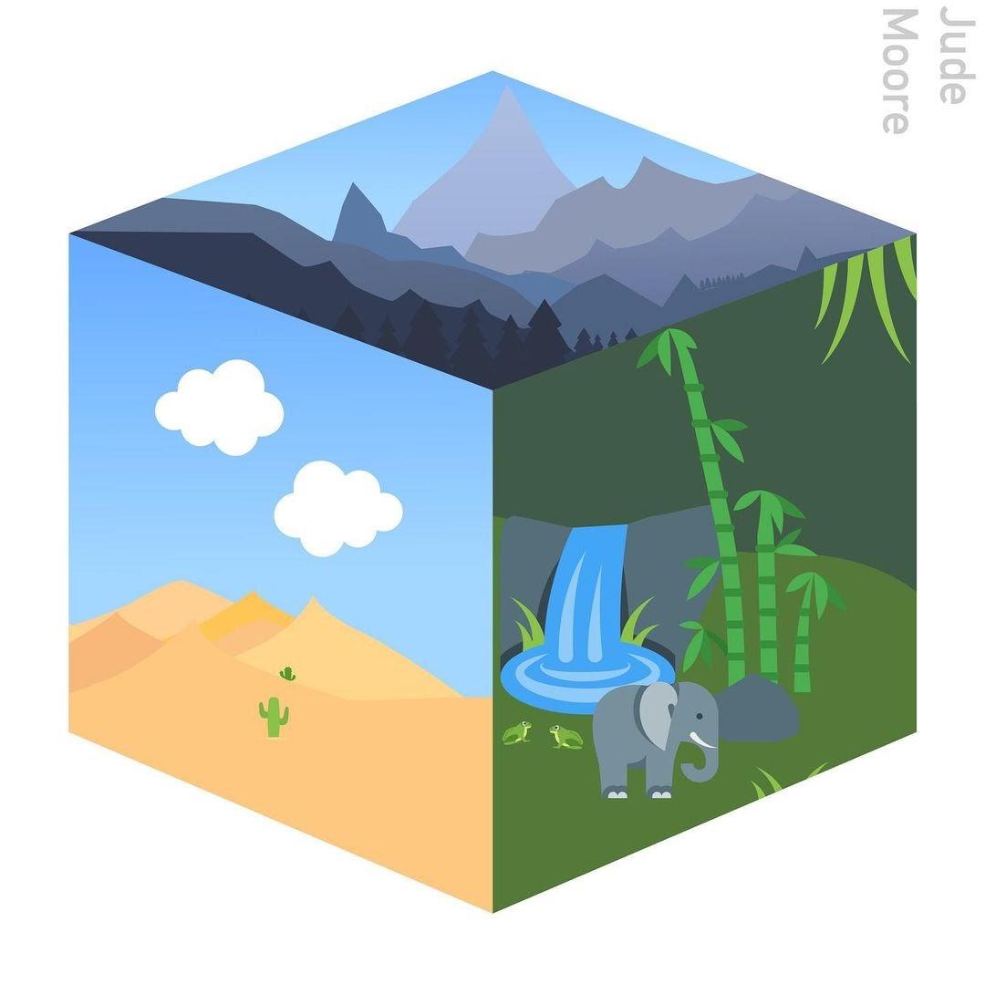 vector art cube