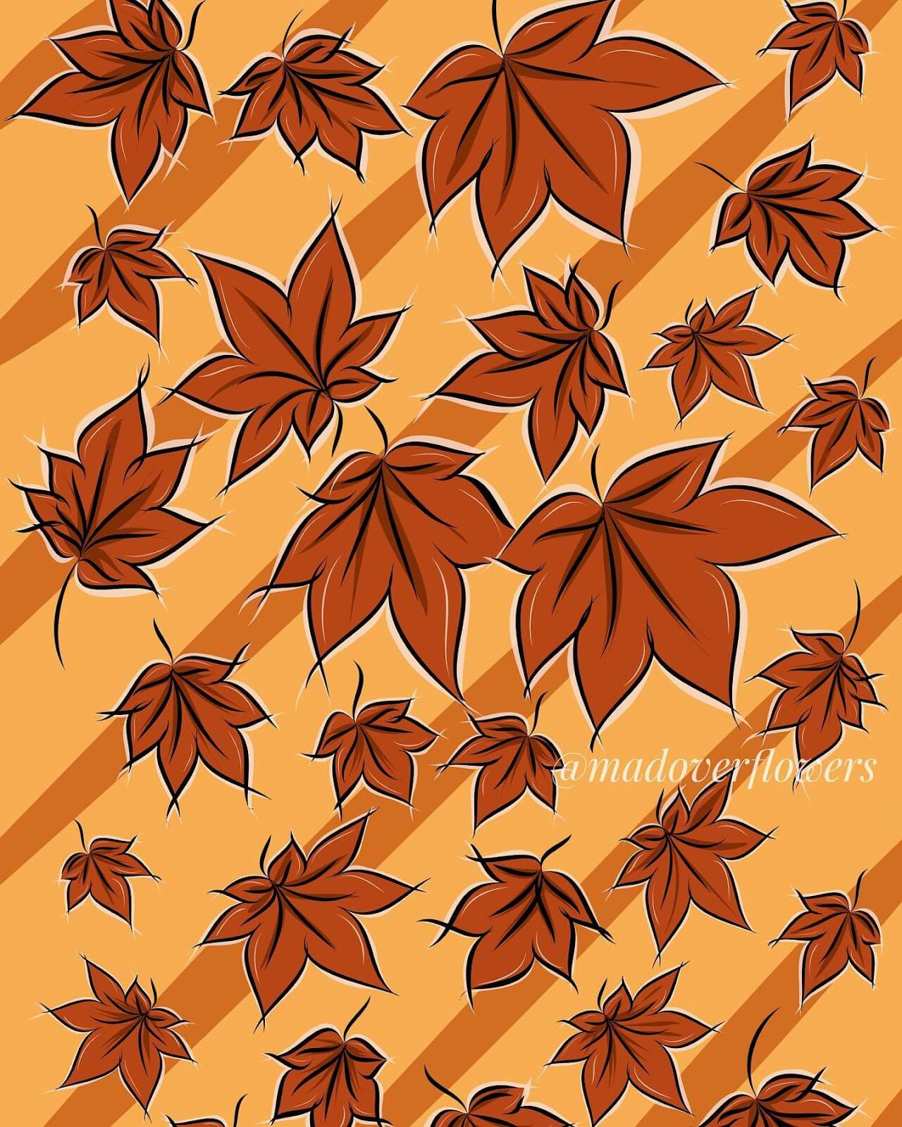 vector art leafs automn fall