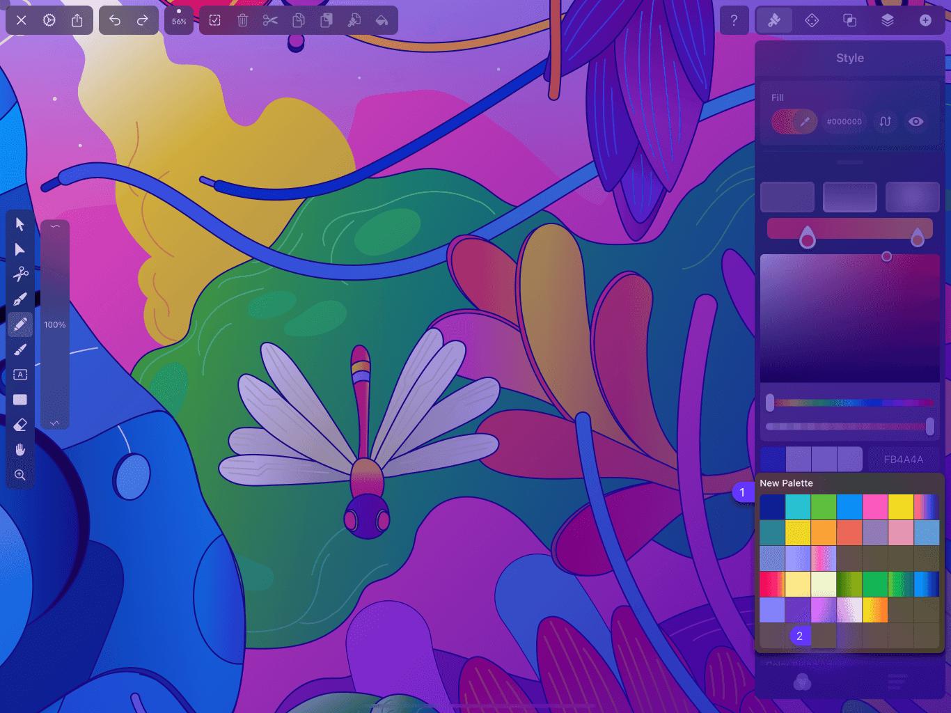 Personal Color Palette in Vectornator