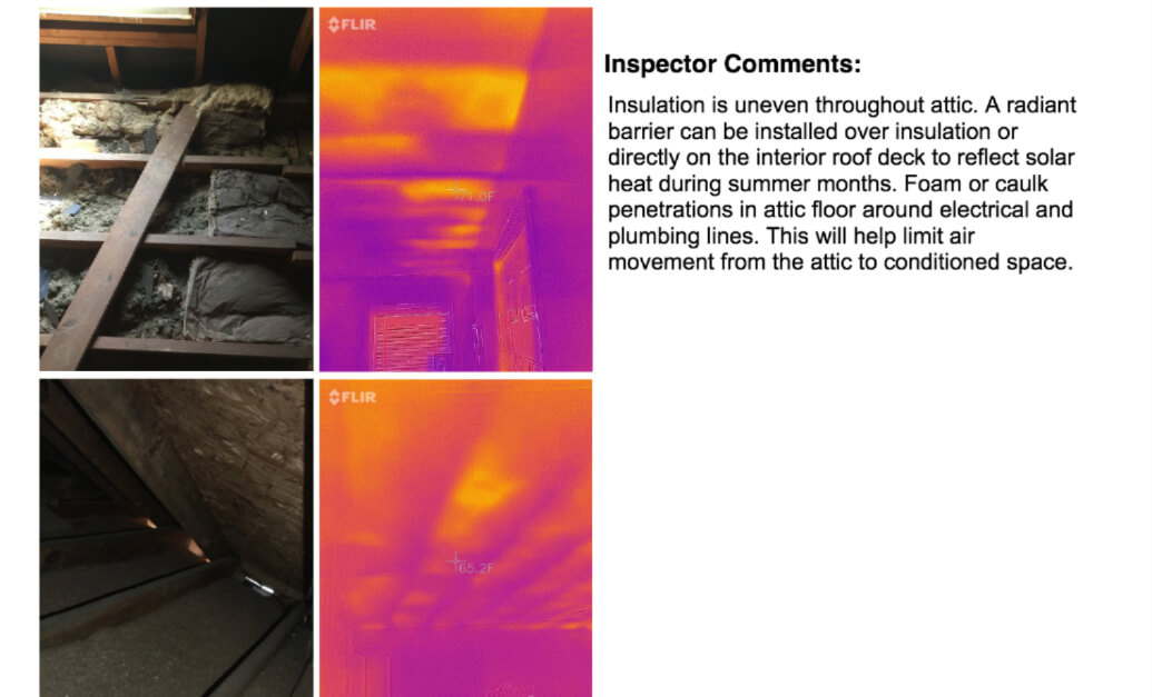 infared cameras are used to detect air leaks