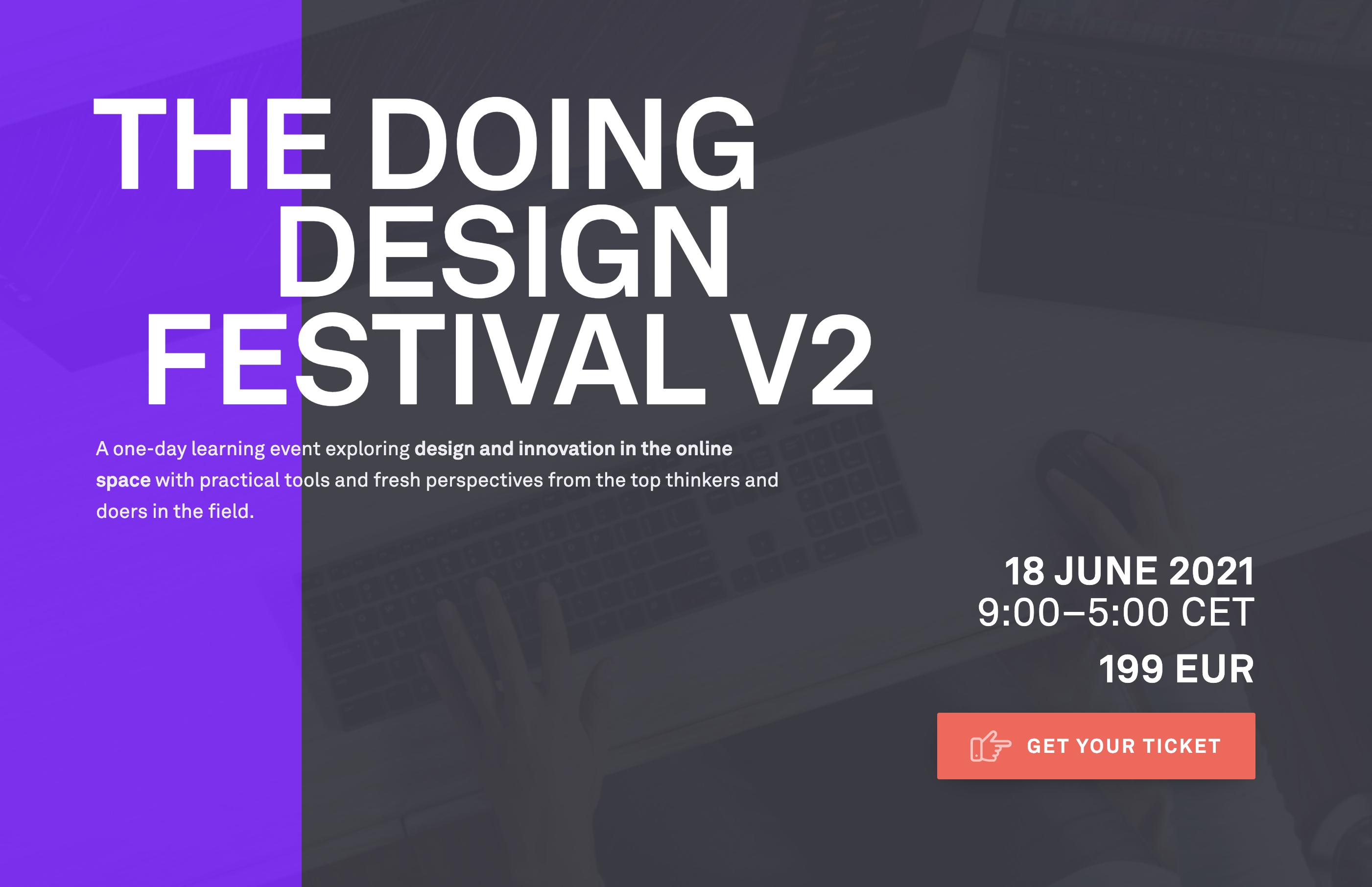 Announcement of the Doing Design Festival V2