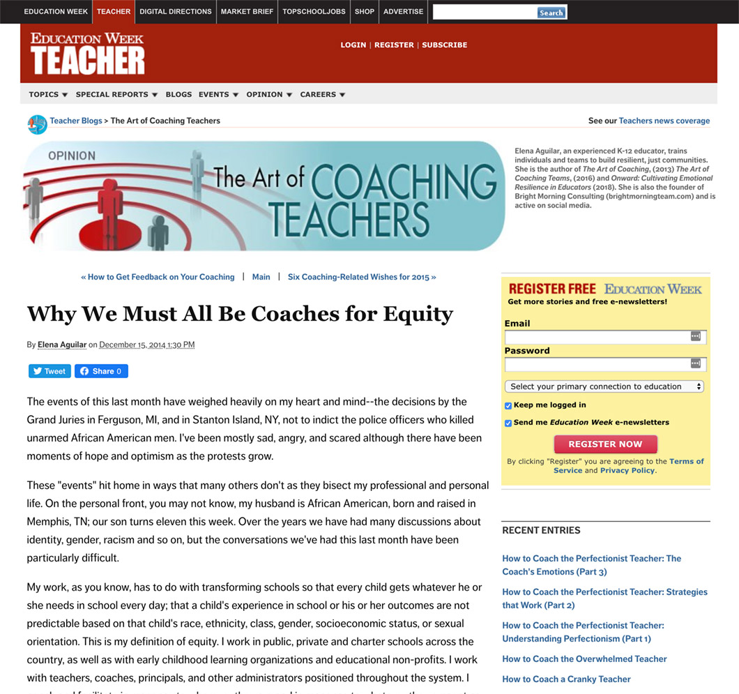 Why We Must All Be Coaches for Equity