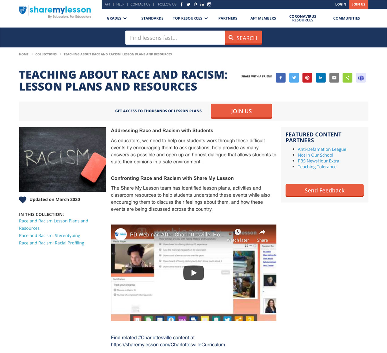 Teaching About Race and Racism: Lesson Plans and Resources